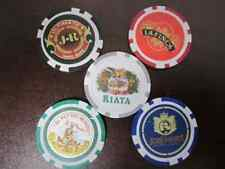 5 pcs Lot J R CIGARS Poker Casino Gaming Chip Set La Finca Jose Golf Ball Marker