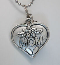 MOM CREMATION JEWELRY URN NECKLACE MEMORIAL KEEPSAKE CYLINDER URN ASH HOLDER