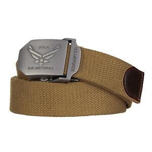 Cintura militare con fibbia in metallo US Air Force USAF Aviazione Americana