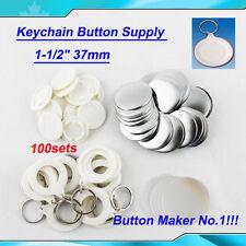 "1-1/2"" 37mm Keychain Parts  Here c 100Sets  DIY !!! Button Maker HOT SALE!!"