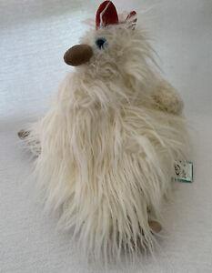 "JELLYCAT NWT Matilda Hen Chicken Plush Cream Shaggy Fluffy 10"" Retired 2013 HTF"