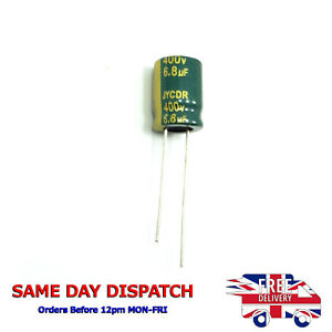 400V 6.8uF LOW ESR Radial Electrolytic Capacitors High Frequency JYCDR H62