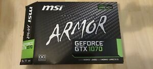 MSI Armor Geforce GTX 1070 graphics card GPU