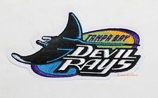 "TAMPA BAY DEVIL RAYS OFFICIAL MLB PATCH 5 1/2"" X 3"""