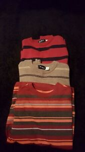 Lot 3 The Children Place Boys Pullover Sweater Sz7/8 and Cat & Jack Sz 6/7 Shirt