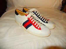 Gucci GG Guccisima Retro Cursive Gucci White Red Blue Sneaker  Sz 10 G  US 11  T