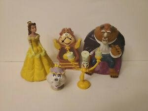 Disney Beauty And The Beast Pizza Hut Rubber Hand Puppets 1992 Vintage Belle Lot