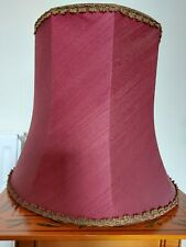 Vintage Deep Red, Maroon Standard Lampshade Floor Lamp Shade