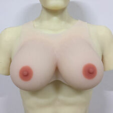 IVITA 2800g White Color Silicone Breast Form Crossdresser False Boobs Drag Queen