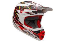 Motorradhelm Cross Enduro Quad Atv IN Kohlenstoff kevlar SCOTT Grid Rot Sw Weiß