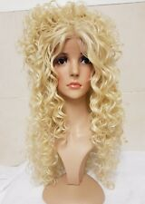 Silk based Swiss lace, human hair wig, hand knotted, ombre, bleach blonde, 613