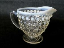 Hobnail Opalescent Creamer-Fenton or Anchor Hocking-Excellent Condition - 1950's