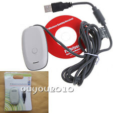 White PC Wireless Gaming USB Receiver Adapter for Microsoft Xbox 360 Controller