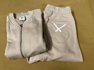 adidas Originals XbyO Satomi Nakamura Tracksuit Jacket Pants Size M Vapour Grey