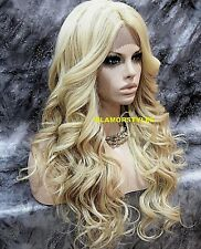 Long Wavy Medium Blonde Mix Full Lace Front Wig Heat Ok Hair Piece #FS613.27 NWT