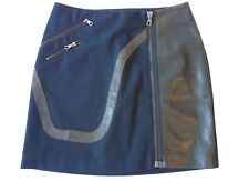 Rag & Bone Mini Skirt with Zip and Leather Detail, UK size 8