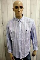 Camicia RALPH LAUREN Uomo Taglia XL Cotone Shirt Chemise Casual Manica Lunga