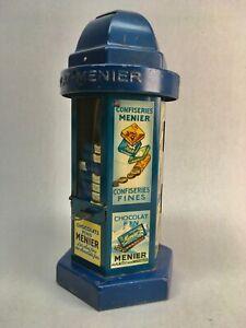 ANTIK:  CHOCOLAT MENIER Schokoladenautomat / Spardose ca 1930 , Blech