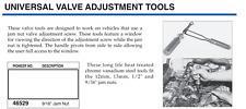 """Pioneer Valve Adjustment Tool. 9/16"""" Jam Nut"""