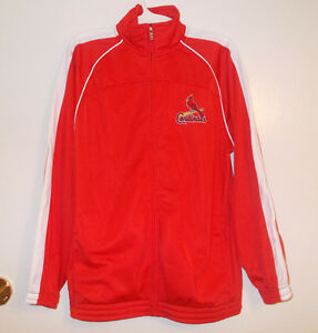 St.Louis Cardinals Boys Track Jacket Red and White  NWT
