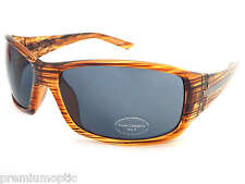 STONE unisex wraparound Sunglasses ST171 Crystal Line Brown/ Dark Grey (by bloc)