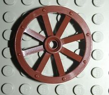 LeGo 5x Reddish Brown Wheel Wagon Large 33mm D Hole Notched Wheels Holder Pin