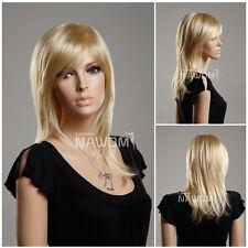 Synthetic fiber of 100%Kanekalon short cosplay Golden women wig hair ZL349A-613E
