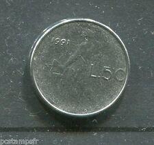 ITALIE pièce de 50 lire PETITE, 1991, type VULCANO, piccola