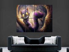 Gato de Cheshire Alicia en el país de las maravillas imagen gigante arte cartel impresión