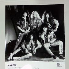 WARLOCK german 1987 Vertigo (16x21) PRESSE Foto Photo PICTURE Promo Set-Card