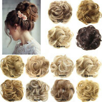 Hair Scrunchies Natural Curly Messy Bun Hair Piece Updo Extension Real As Human