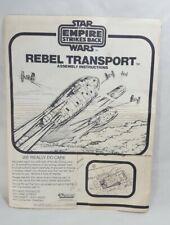 Vintage Original 1981 Kenner Star Wars Rebel Transport Instructions ESB