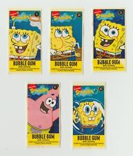 Spongebob Squarepants wrap around bubble chewing gum stickers x 5 - lot 2 Dunkin