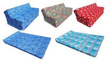 Colchón plegable de espuma cama invitados futon sillón adultos 200 x 120 x 10 cm