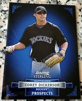 COREY DICKERSON 2012 Bowman Sterling BLUE Rookie Card RC Rays HOT .347 BA 11 HRs