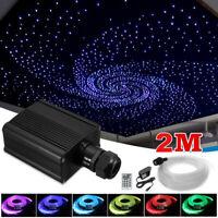 16W RGBW LED Fiber Optic Star Ceiling Lights Kit with Cables 300pcs*0.75mm*2m