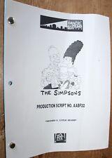 THE SIMPSONS RARE  TV SERIES SHOW SCRIPT EPISODE BROTHER'S LITTLE HELPER