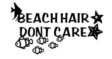 beach hair dont care beach ocean truck sticker vinyl funny car decal