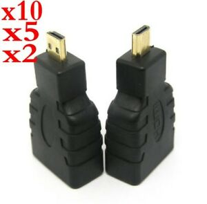 1-10X Micro HDMI (Type D) Male to HDMI (Type A) Female Converter Adapter HDTV
