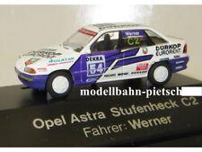 Rietze 90106 Opel Astra, DÜRKOP EURORENT DTM 93 ; Fahrer WERNER ,1:87, neu , OVP