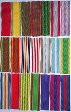 Lot des 21 principaux rubans de médailles et décorations françaises, NEUFS.