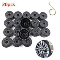 20pcs 17mm Black Wheel Nut Caps Bolt Covers For Audi VW Vauxhall Bmw Mercedes UK