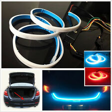 120CM 2-color flow type DRL Trunk box+Side Turn Signals Rear lights LEDs Strips