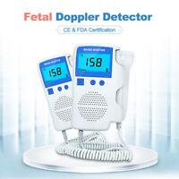 Baby LCD Ultrasonic Detector Fetal Doppler Prenatal Heart Rate Monitor Blue CE