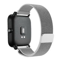 Milanese Stainless Steel Watch Band Strap For Xiaomi Huami Amazfit Bip140~225mm