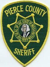 PIERCE COUNTY WASHINGTON WA President George Washington SHERIFF POLICE PATCH