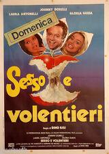 manifesto 2F film SESSO E VOLENTIERI Laura Antonelli Gloria Guida 1982