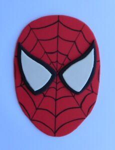 1 large 13cm edible SPIDERMAN face cake topper decoration SUPER HERO spider