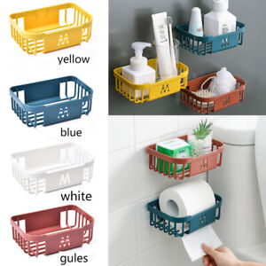 Wall Basket Rack Storage Corner Holders Organizer Shower Caddy Shelf Bathroom