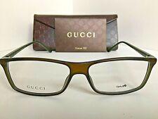New GUCCI GG 1039 69C Green Transparent 55mm Rx Men's Eyeglasses Frame
